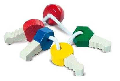 Image de Clés à jouer en bois multicolore