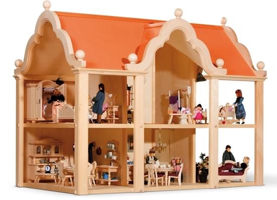 Image sur Maison de poupées en bois Classic