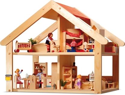 Image de Maison de poupée en bois Primera