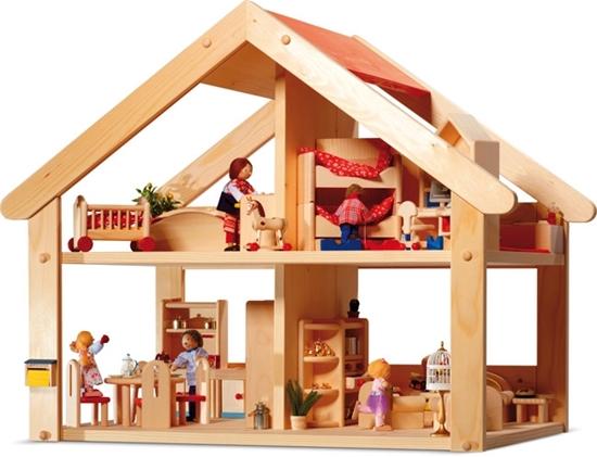 Image sur Maison de poupée en bois Primera