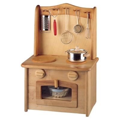 Image de Cuisinière en bois avec évier