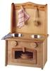 Image sur Cuisinière en bois avec évier