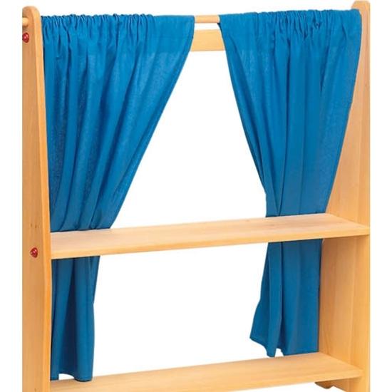La Fée aux Jouets. Set de deux rideaux bleus