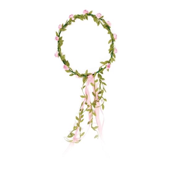 Image sur Couronne à fleurs roses
