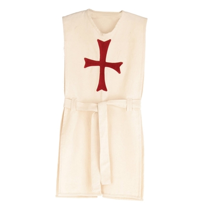 Image de Tunique de chevalier blanche, croix rouge