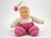 Image sur Poupée en tissu éponge blanc et rose