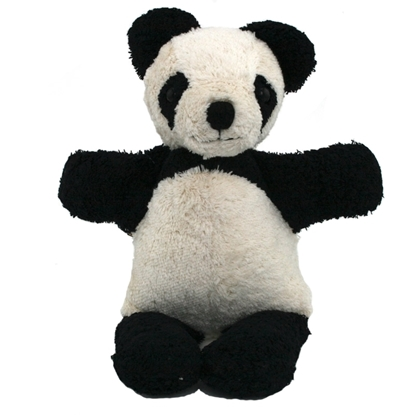 Wit en zwart pandabeertje in bio katoen.
