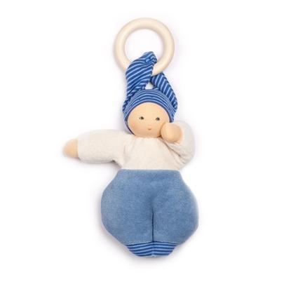 Image de Poupée Lolly bleue avec anneau amovible