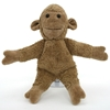 Beige aapje gemaakt van bio katoen, staand met opengespreide  armen.