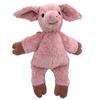 Cochon câlin en coton bio rose se trouvant debout.
