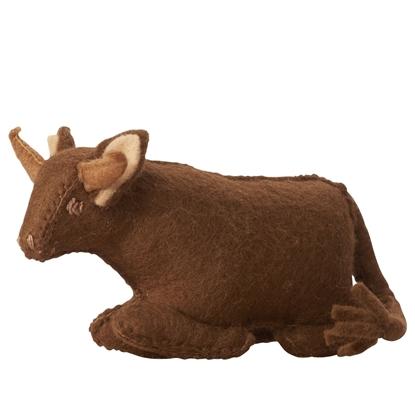 Image de Vache  jouet en feutre 100% laine