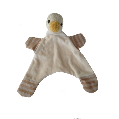 Image de Doudou canard en coton bio