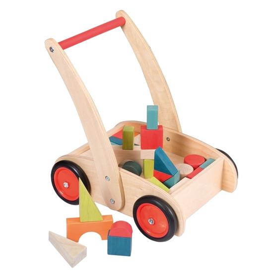 Image sur Chariot de marche avec blocs en bois